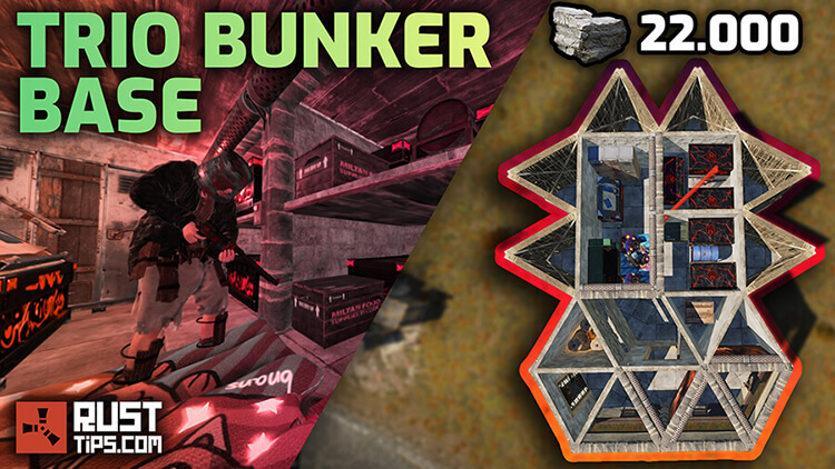 Rust Guides | Trio Bunker Base