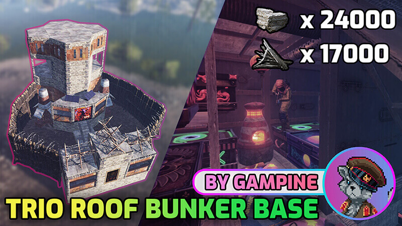 Rust Guides | Trio Roof Bunker Base