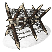 Barbed Wooden Barricade